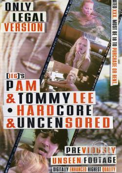 Pam & Tommy Lee - Hardcore & Uncensored DVD Cover Art. Large Front
